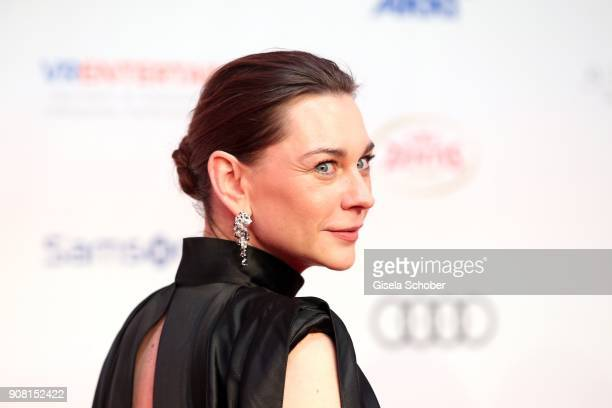 Christiane Paul wearing earrings by Cartier during the German Film Ball 2018 at Hotel Bayerischer Hof on January 20 2018 in Munich Germany