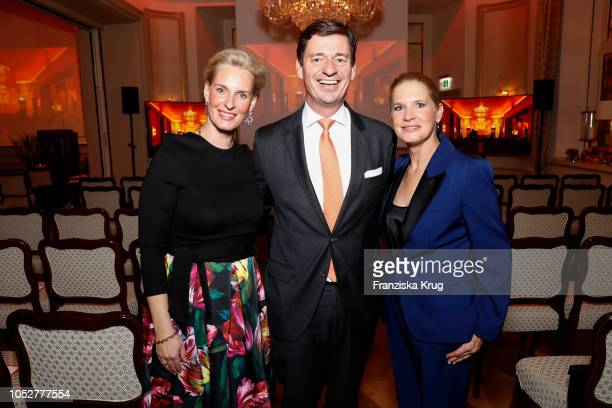 Christiane Peters, IngoPeters and Cornelia Poletto during the 'Die Europa' award to women entrepreneurs hosted by the Club of European female...