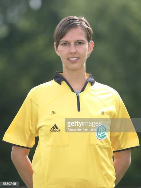 Christiane Schoenfelder poses during the German Football Federation referee seminar on July 29 2005 in Neu Isenburg near Frankfurt Germany
