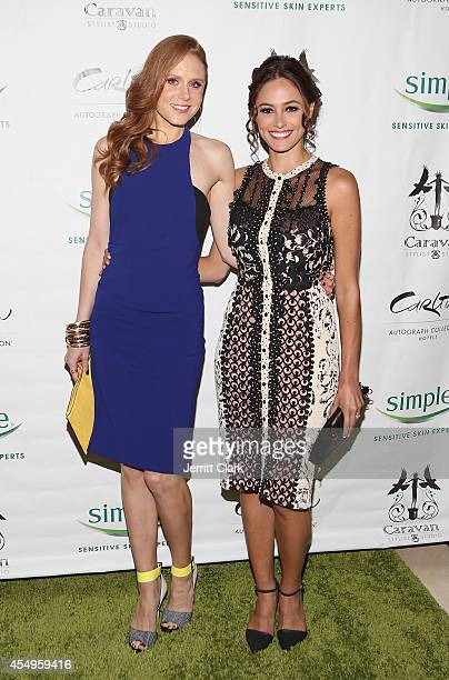Christiane Seidel and Elizabeth Masucci attend the Simple Skincare Caravan Stylist Studio Fashion Week Event on September 7 2014 in New York City