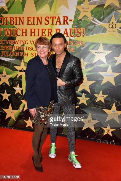 Christiane Stoeckel and Julian F M Stoeckel during the Public Viewing Of the TV Show 'Ich bin ein Star Holt mich hier raus' on January 19 2018 in...