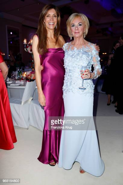 Christiane zu Salm and Liz Mohn during the Rosenball charity event at Hotel Intercontinental on May 5 2018 in Berlin Germany