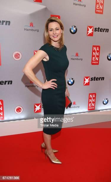 Christiane zu Salm during the Henri Nannen Award red carpet arrivals on April 27 2017 in Hamburg Germany