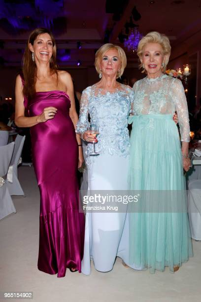 Christiane zu Salm Liz Mohn and Ute Ohoven during the Rosenball charity event at Hotel Intercontinental on May 5 2018 in Berlin Germany