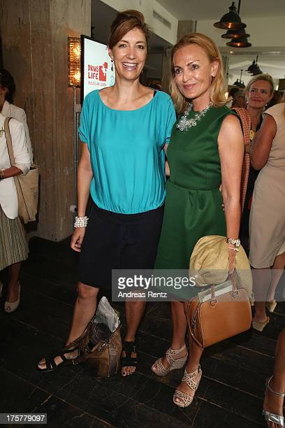 Christiane zu SalmKofler and Sigrid Streletzki attend the DKMS LIFE Charity Ladies lunch at Soho House on August 8 2013 in Berlin Germany