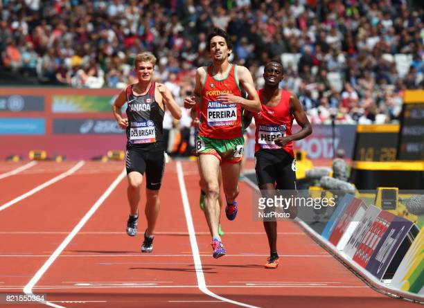 Christiano Perrira of Portugal Man's 1500m T20 Final during World Para Athletics Championships at London Stadium in London on July 23 2017