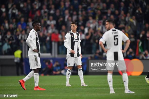 Christiano Ronaldo of Juventus looks on during the UEFA Champions League Quarter Final second leg match between Juventus and Ajax at Allianz Stadium...
