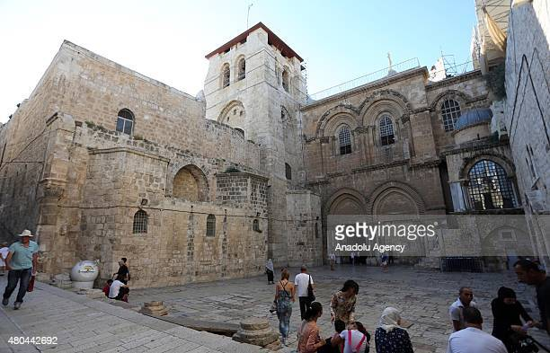 Christians from all over the world visit the Church of the Holy Sepulchre which stands within Jerusalem's old city walls on the spot where it is...