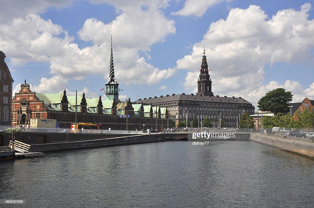 Christiansborg Castle and Borse, Copenhagen : Stockfoto