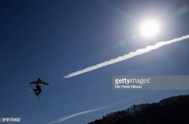 Christiansen Sjaastad Tiril of Norway during the Womens Slopestyle Freestyle Skiing on day eight of the PyeongChang 2018 Winter Olympic Games at...