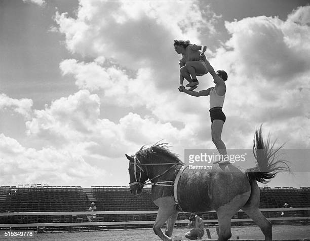 Christiansis Lucio and Hortense's equestrian act in Sarasota FL