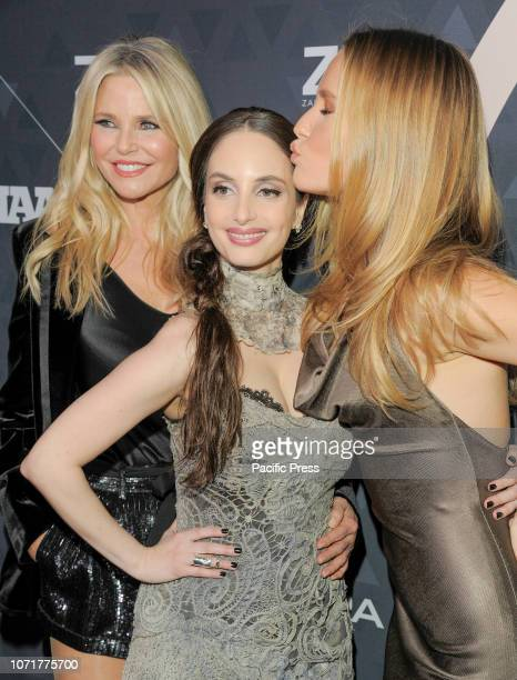 Christie Brinkley Alexa Ray Joel and Sailor BrinkleyCook attend the 32nd Footwear News Achievement Awards at IAC Headquarters