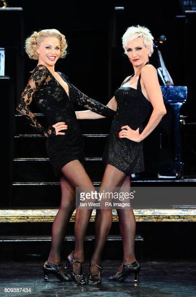 Christie Brinkley and Amra-Faye Wright, who take over the roles of Roxie Hart and Velma Kelly respectively in Chicago, during a photocall at the...
