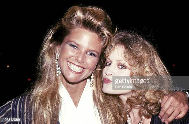 Christie Brinkley and Beverly D'Angelo during Chinese New Year Party February 19 1983 at Mr Chow's Restaurant in Beverly Hills California United...