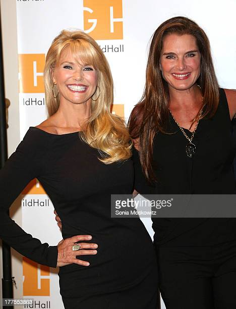 Christie Brinkley and Brooke Shields attend Celebrity Autobiography at Guild Hall on August 23 2013 in East Hampton New York
