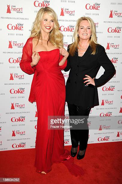 Christie Brinkley and Designer Pamella Roland attend the Heart Truth's Red Dress Collection 2012 Fashion Show at Hammerstein Ballroom on February 8...