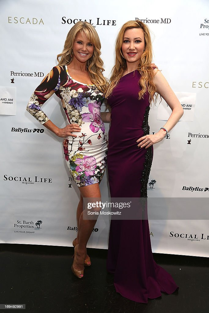 Christie Brinkley and Devorah Rose attend the Social Life Magazine 10 Year Anniversary Party at 70 Tanager Lane on May 25, 2013 in Watermill, New York.