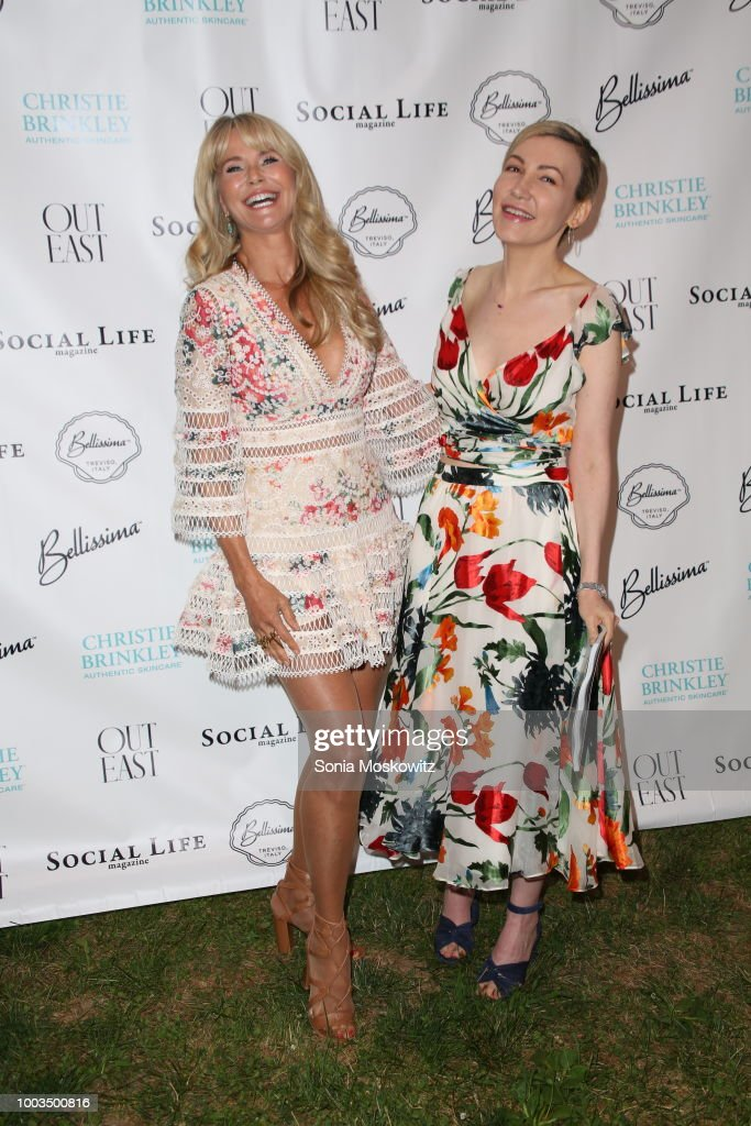 Christie Brinkley and Devorah Rose attends the 7th Annual St. Barth Hamptons Gala at Bridgehampton Historical Museum on July 21, 2018 in Bridgehampton, New York.