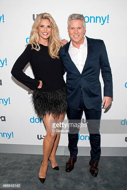 Christie Brinkley and Donny Deutsch attend the premiere of USA Network's Donny at The Rainbow Room on November 3 2015 in New York City