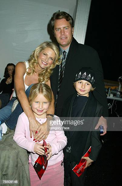 Christie Brinkley and husband Peter Cook with daughter Sailor and son Jack at the Olympus Fashion Week Fall 2005 Heart Truth Red Dress Collection...