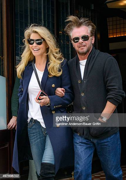 Christie Brinkley and John Mellencamp are seen on October 16 2015 in New York City