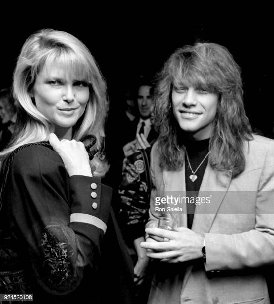 Christie Brinkley and Jon Bon Jovi attend Third Annual Silver Clef Awards Dinner on November 15 1990 at Roseland in New York City