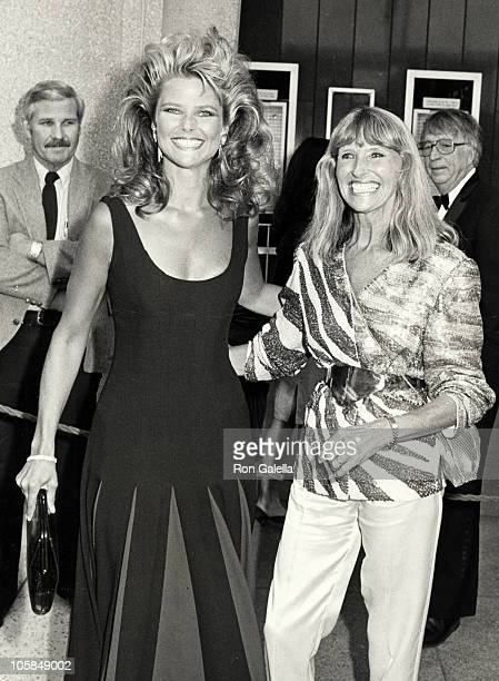 Christie Brinkley and Marge Brinkley during 56th Annual Academy Awards at Dorothy Chandler Pavilion in Los Angeles California United States