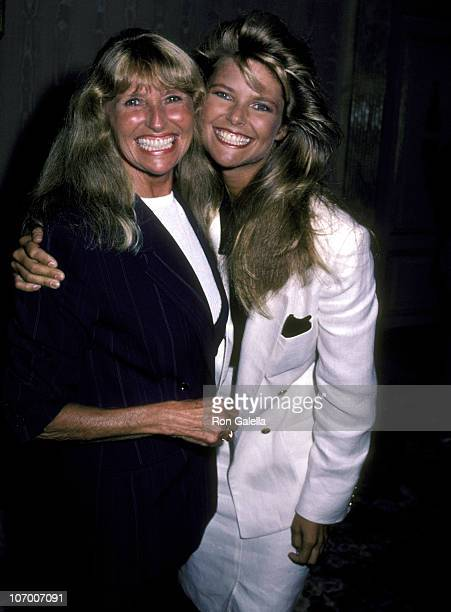 Christie Brinkley and Mother Marge Brinkley during Christie Brinkley Announces Launch of Her Sportswear Swimwear Collection August 30 1983 at...