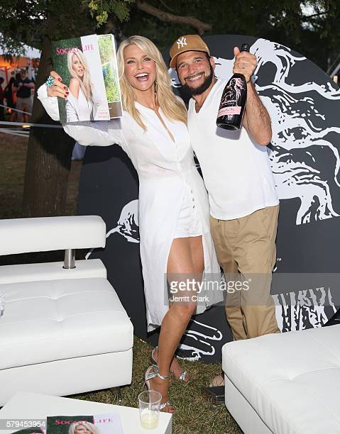 Christie Brinkley and Philip Bloch attend the St Barth Hamptons Gala Presented by Social Life Magazine at Bridgehampton Historical Society on July 24...