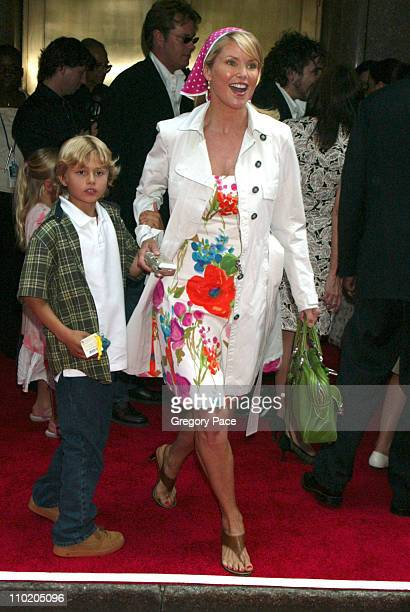 Christie Brinkley and son Jack during Harry Potter and the Prisoner of Azkaban New York Premiere at Radio City Music Hall in New York City New York...