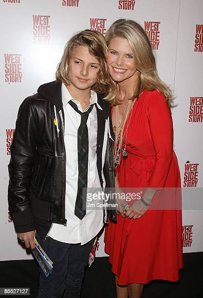 Christie Brinkley and son Jack Paris attend the West Side Story Broadway revival opening night at The Palace Theatre on March 19 2009 in New York...