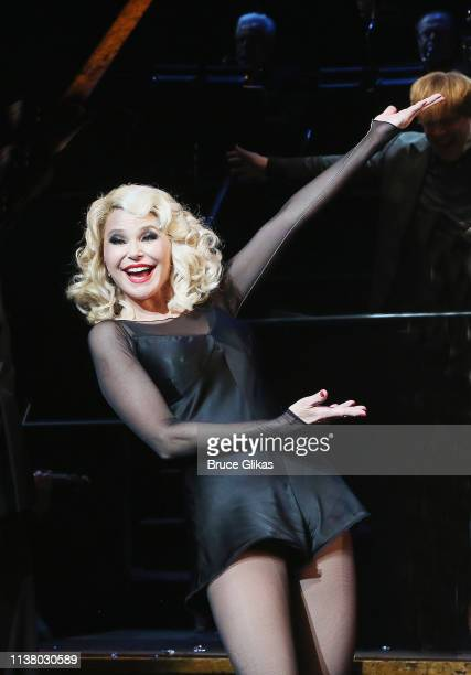 """Christie Brinkley as """"Roxie Hart"""" during the curtain call as Christie Brinkley returns to the hit musical """"Chicago"""" on Broadway at The Ambassador..."""