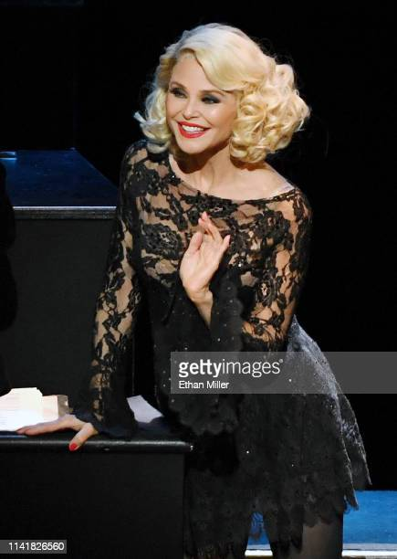 """Christie Brinkley as Roxie Hart performs in the musical """"Chicago"""" at The Venetian Las Vegas on April 10, 2019 in Las Vegas, Nevada."""