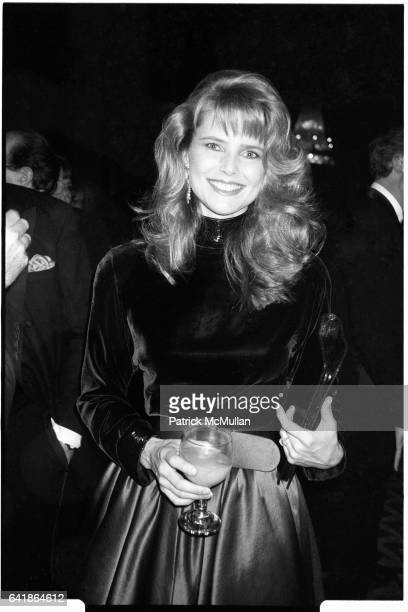 Christie Brinkley at the American Museum of the Moving Image Salute to Elia Kazan January 20 1987