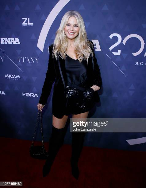 Christie Brinkley attends 2018 FN Achievement Awards at IAC Headquarters on December 04, 2018 in New York City.