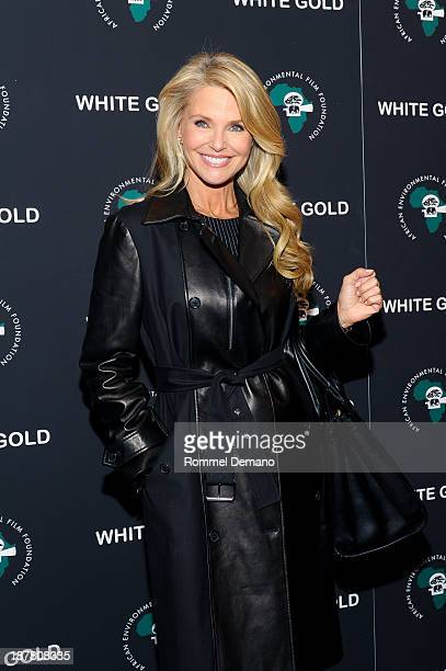 Christie Brinkley attends a special screening of White Gold at Museum of Modern Art on November 12 2013 in New York City