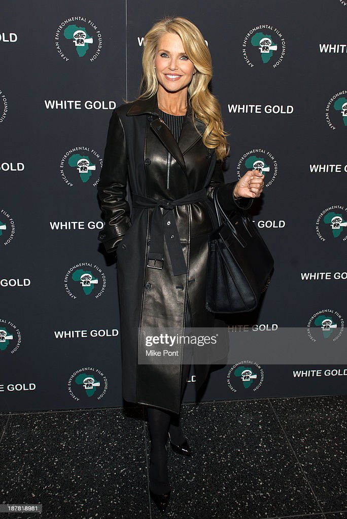 Christie Brinkley attends a special screening of 'White Gold' at the Museum of Modern Art on November 12, 2013 in New York City.