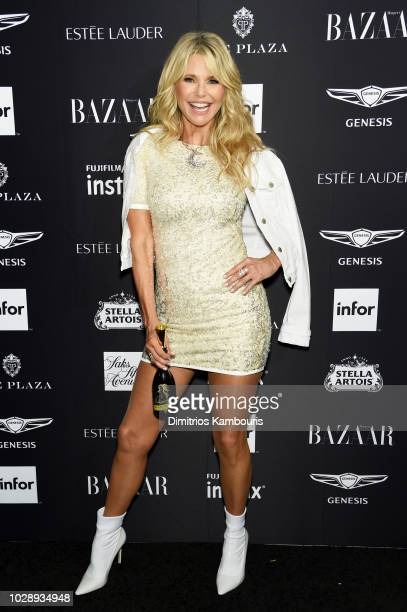 Christie Brinkley attends as Harper's BAZAAR Celebrates ICONS By Carine Roitfeld at the Plaza Hotel on September 7 2018 in New York City