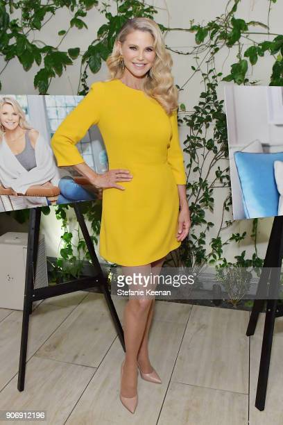 Christie Brinkley attends Christie Brinkley Celebrates Her Partnership With Merz Aesthetics at Waldorf Astoria Beverly Hills on January 18 2018 in...