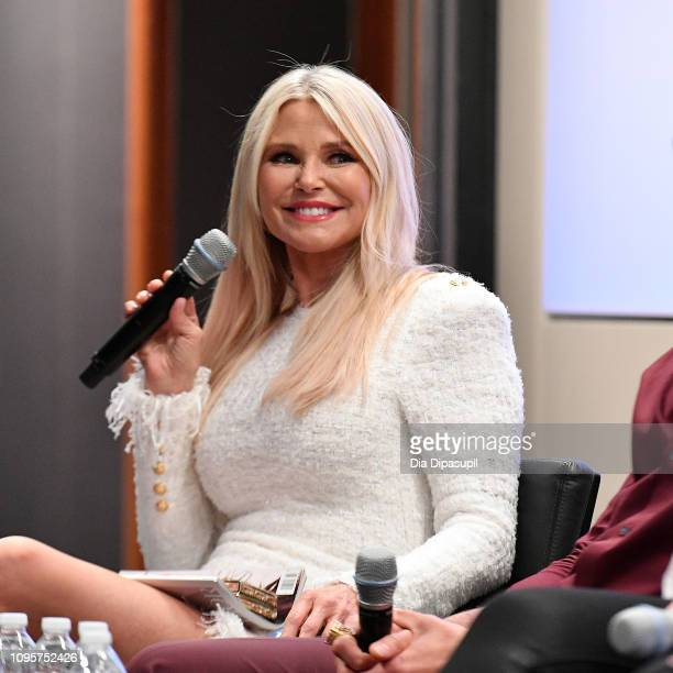 Christie Brinkley attends Cocktails and a Conversation with the Stars of Lifetime's 'American Beauty Star' featuring host and executive producer...