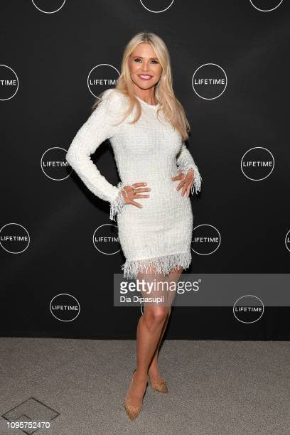 Christie Brinkley attends Cocktails and a Conversation with the Stars of Lifetime's American Beauty Star featuring host and executive producer Ashley...