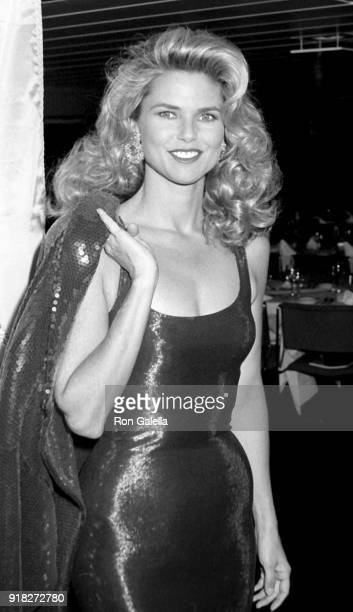 Christie Brinkley attends Eighth Annual The MakeAWish Foundation Awards Dinner on April 26 1991 abourd Princess Yacht in New York City