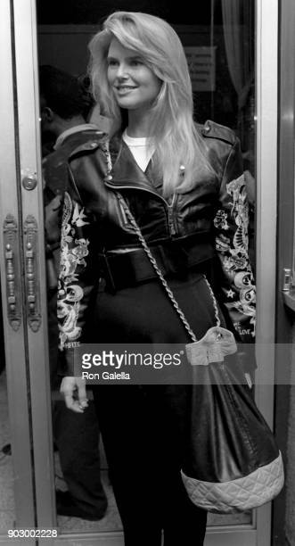 Christie Brinkley attends 'Miss Firecracker' Premiere on April 25 1989 at the Festival Theater in New York City
