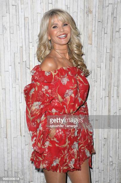 Christie Brinkley attends the 2018 Sports Illustrated Swimsuit at PARAISO During Miami Swim Week W South Beach Model Casting Call Day 2 at The W...