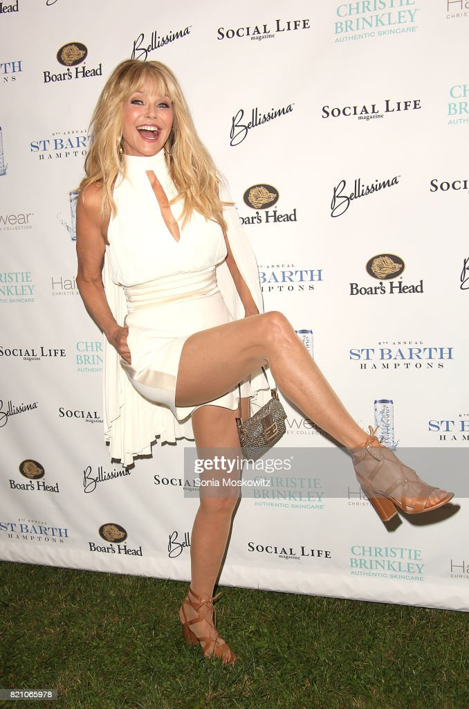 Christie Brinkley attends the 6th Annual St. Barth Hamptons Gala at the Bridgehampton Historical Museum on July 22, 2017 in Bridgehampton, New York.