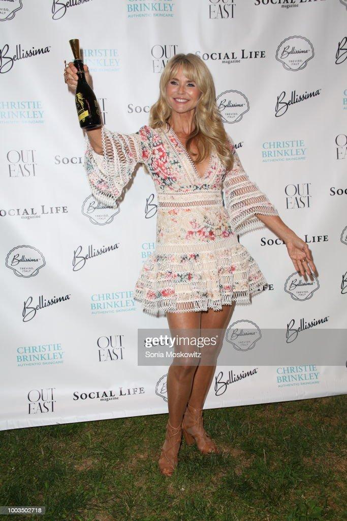 Christie Brinkley attends the 7th Annual St. Barth Hamptons Gala at Bridgehampton Historical Museum on July 21, 2018 in Bridgehampton, New York.