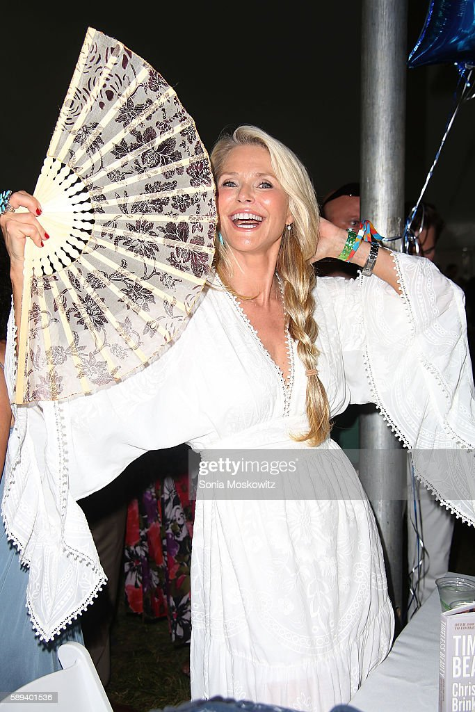 Christie Brinkley attends the East Hampton Library's 12th Annual Authors Night Benefit on August 13, 2016 in East Hampton, New York.