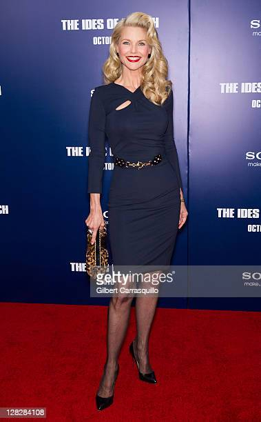 Christie Brinkley attends the premiere of 'The Ides of March' at the Ziegfeld Theater on October 5 2011 in New York City