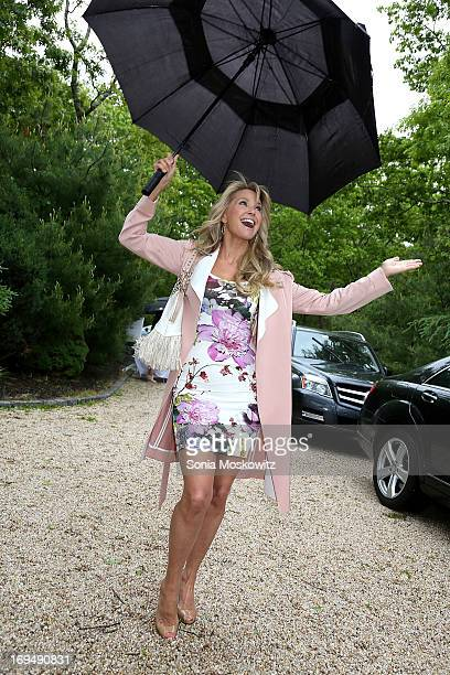 Christie Brinkley attends the Social Life Magazine 10 Year Anniversary Party at 70 Tanager Lane on May 25 2013 in Watermill New York