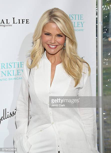 Christie Brinkley attends the St. Barth Hamptons Gala Presented by Social Life Magazine at Bridgehampton Historical Society on July 24, 2016 in...